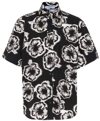 Prada Floral-printed cotton shirt