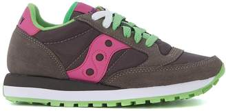 Saucony Jazz Grey Suede And Nylon Sneaker