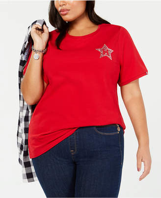 5d1ccd4d7a8 Tommy Hilfiger Red Plus Size Tops on Sale - ShopStyle