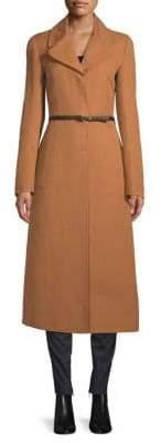 Valentino Notch Belted Coat