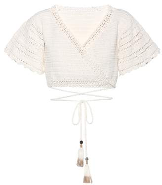 She Made Me Amira crochet cotton top