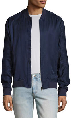 Lot 78 Lot78 Crepe Bomber Jacket