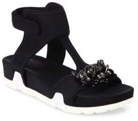 Ash Osiris Flower Ankle Strap Sandals $160 thestylecure.com