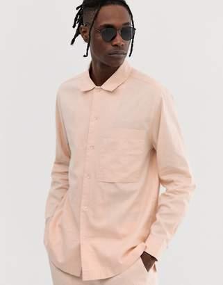 Asos two-piece loose fit shirt in 100% hemp