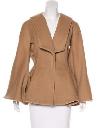Alexander McQueen Belted Camel Coat