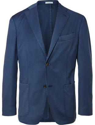 Boglioli Blue Slim-Fit Unstructured Wool-Twill Suit Jacket