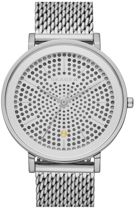 Skagen Hald Solar Powered Mesh Bracelet Watch $255 thestylecure.com