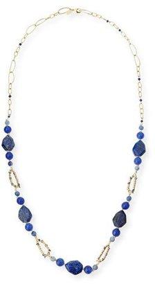 "Alexis Bittar Chain Link Lapis & Iolite Station Necklace, 32"" $325 thestylecure.com"