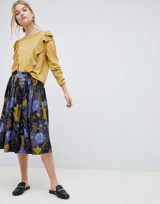 Selected Selecetd Sonja Floral Midi Skirt