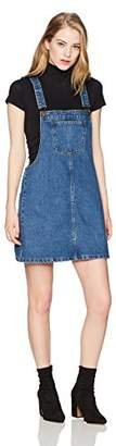 Parker Lily Women's Classic Adjustable Strap Denim Overall Dress