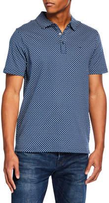 Michael Kors Men's Printed Cotton Polo Shirt