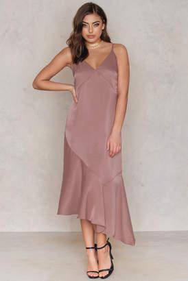 Tranloev Deep V Asymmetric Cut Dress