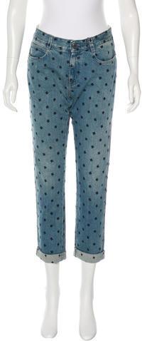 Stella McCartneyStella McCartney Embroidered Boyfriend Jeans w/ Tags