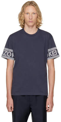 Kenzo Blue Logo Sleeve T-Shirt