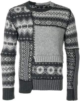 Alexander McQueen geometric intarsia sweater