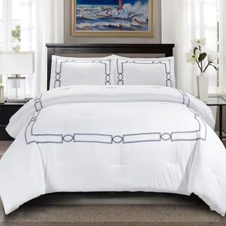Superior Kensington Embroidered Hypoallergenic,Down Alternative Comforter Set