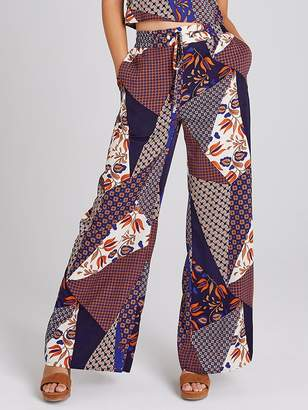 Girls On Film Printed Wide Leg Trouser