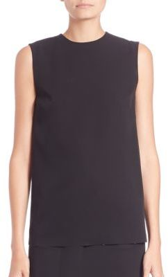 Ralph Lauren Collection Nora Two-Tone Flyaway Silk Top $1,190 thestylecure.com