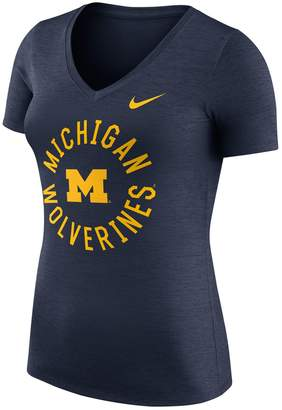 Nike Women's Michigan Wolverines Dri-FIT Touch Tee