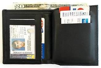 Hero's Heroine Pride Leather Bi-fold Flat Badge Wallet Fits California Department of Corrections Badge