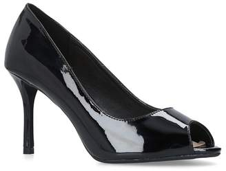97e44be25b2 at Debenhams · Miss KG - Black  Cooper  Patent Peep Toe Court Shoes
