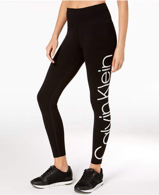 Calvin Klein Jumbo-Logo High-Rise Leggings