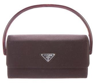 prada Prada Mini Satin Handle Bag