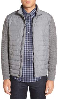 Zachary Prell 'Beacon' Trim Fit Quilted Cable Knit Zip Sweater