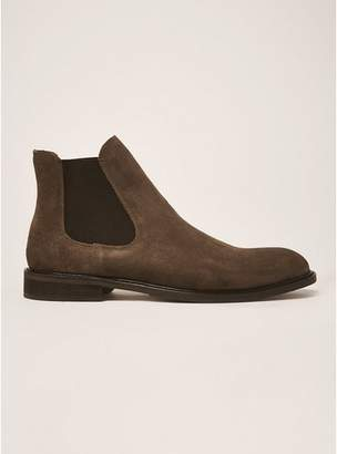 Topman Mens SELECTED HOMME Brown Suede Baxter Chelsea Boots