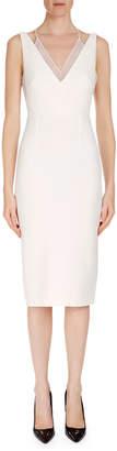 Roland Mouret Sleeveless Layered V-Neck Dress