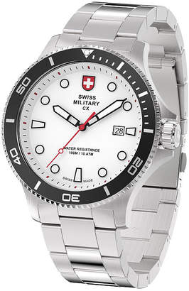 Swiss Military BY CHARMEX By Charmex Diving Mens Silver Tone Bracelet Watch-79292_9_C
