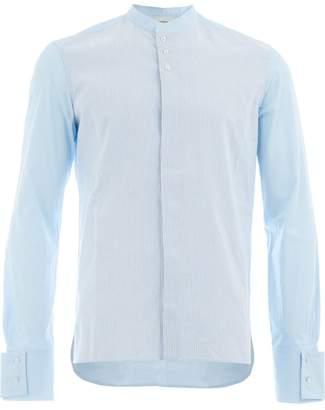 Wales Bonner pinstripe mandarin collar shirt