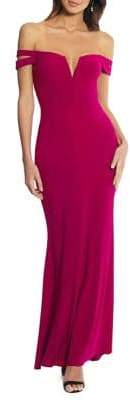 Xscape Evenings Petite Cocktail-Fit Off-The-Shoulder Mermaid Gown