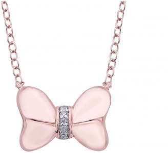 DISNEY CLASSICS Disney Classics Womens Diamond Accent Genuine Diamond 14K Gold Over Silver Minnie Mouse Pendant