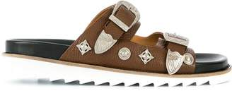 Toga Virilis Grainy leather sandals