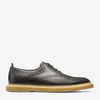 Bally Nek Black, Men's grained deer leather derby shoe In black