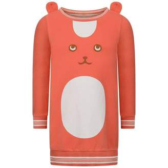 Oilily OililyGirls Coral Orange Huppel Sweater Dress