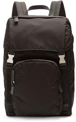 Prada Front-pocket nylon backpack