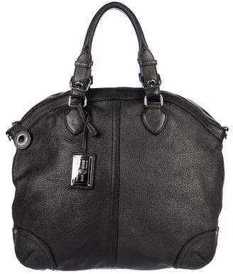 Car Shoe Metallic Leather Satchel