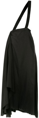 aganovich brace detail draped skirt