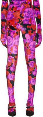 Richard Quinn Red Floral Leggings