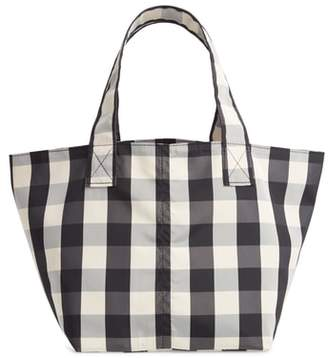 TRADEMARK Small Gingham Nylon Grocery Tote