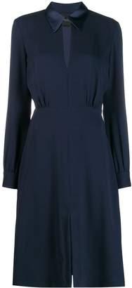 Cavallini Erika crepe shirt dress