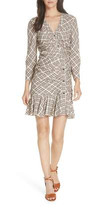 Veronica Beard Rowe Asymmetrical Button Dress