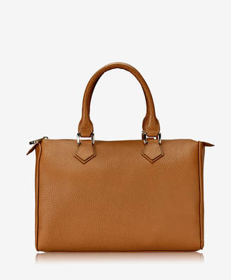 GiGi New York Brooke Barrel Bag Sable Pebble Grain