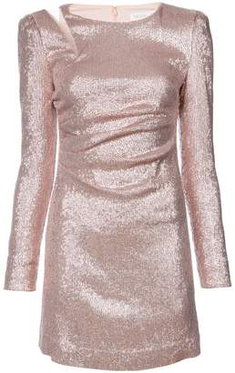 Rachel Zoe metallic fitted mini dress
