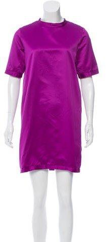 Burberry Burberry Prorsum Satin Mini Dress w/ Tags
