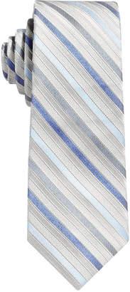 Calvin Klein Gemstone Zip Stripe Tie, Big Boys