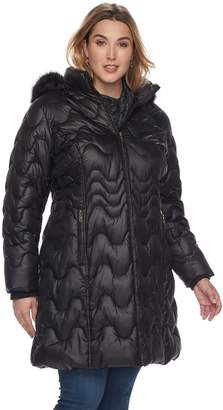 Gallery Plus Size Hooded Puffer Jacket
