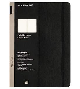 Moleskine A4 Workbook, Plain, Black